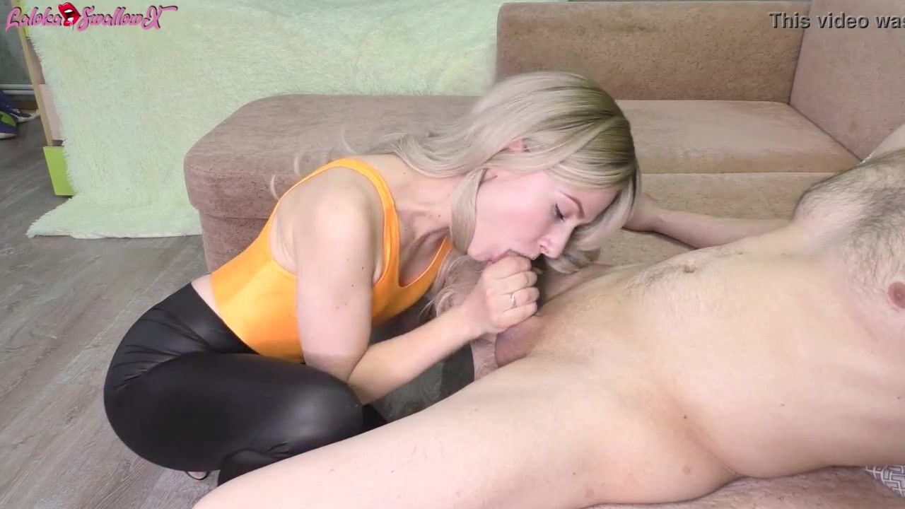 husband cleans up creampie